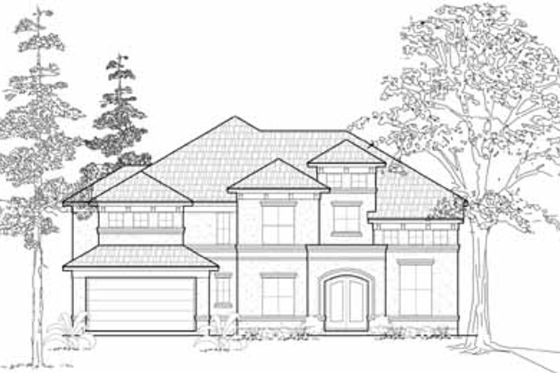 European Exterior - Front Elevation Plan #61-277