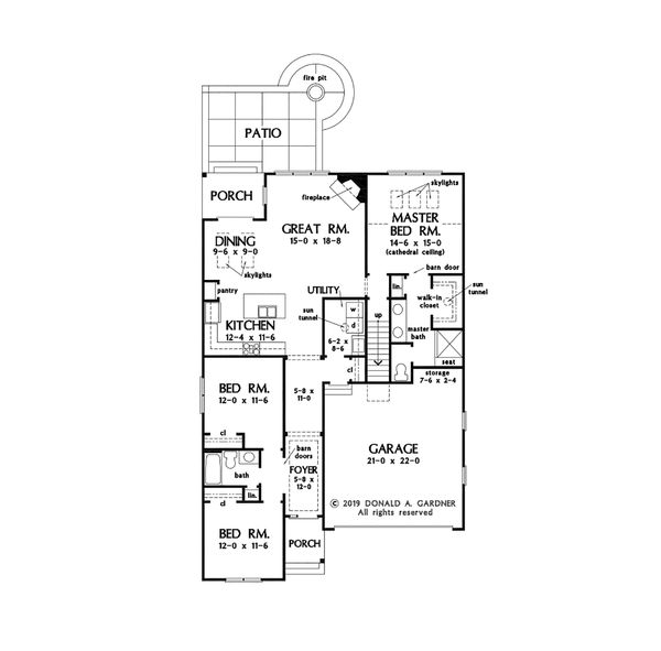 Cottage Floor Plan - Main Floor Plan #929-1083