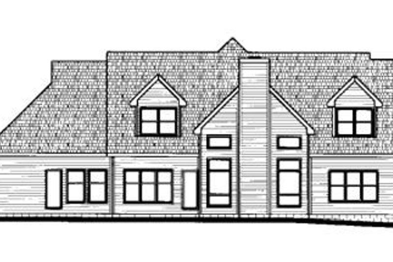 European Exterior - Rear Elevation Plan #20-1105 - Houseplans.com
