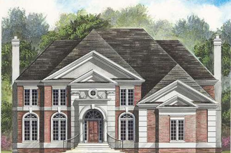 European Exterior - Front Elevation Plan #119-326 - Houseplans.com