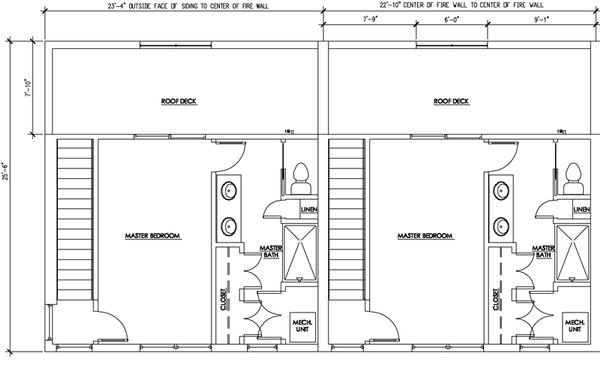 Modern Floor Plan - Upper Floor Plan Plan #448-1