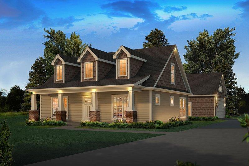 House Plan Design - Craftsman Exterior - Front Elevation Plan #57-668