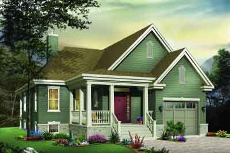 Home Plan - Traditional Exterior - Front Elevation Plan #23-566
