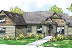 Craftsman Exterior - Front Elevation Plan #124-846