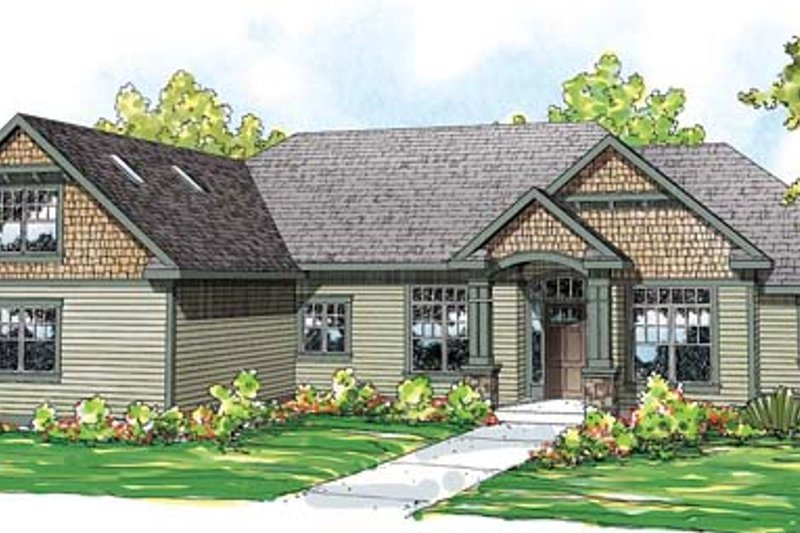 Craftsman Exterior - Front Elevation Plan #124-846 - Houseplans.com