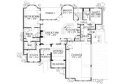 Traditional Style House Plan - 5 Beds 3 Baths 3634 Sq/Ft Plan #80-210 Floor Plan - Main Floor