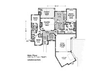 European Floor Plan - Main Floor Plan Plan #310-1306