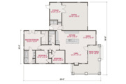 Craftsman Style House Plan - 3 Beds 2 Baths 1451 Sq/Ft Plan #461-54 Floor Plan - Main Floor Plan