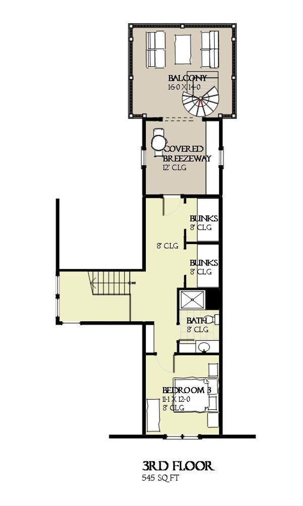 Beach Floor Plan - Other Floor Plan #901-120