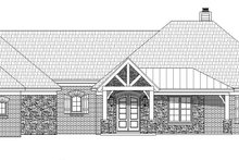 Country Exterior - Front Elevation Plan #932-93