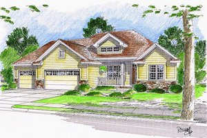 Traditional Exterior - Front Elevation Plan #455-123