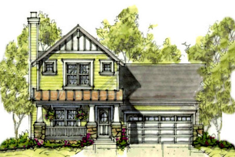 Architectural House Design - Cottage Exterior - Front Elevation Plan #20-1209