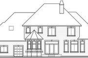 European Style House Plan - 5 Beds 3.5 Baths 3187 Sq/Ft Plan #23-828 Exterior - Rear Elevation