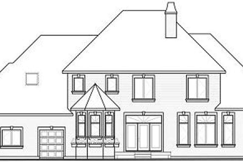 European Exterior - Rear Elevation Plan #23-828 - Houseplans.com