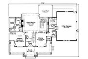 Country Style House Plan - 4 Beds 2.5 Baths 2482 Sq/Ft Plan #46-510 Floor Plan - Main Floor Plan