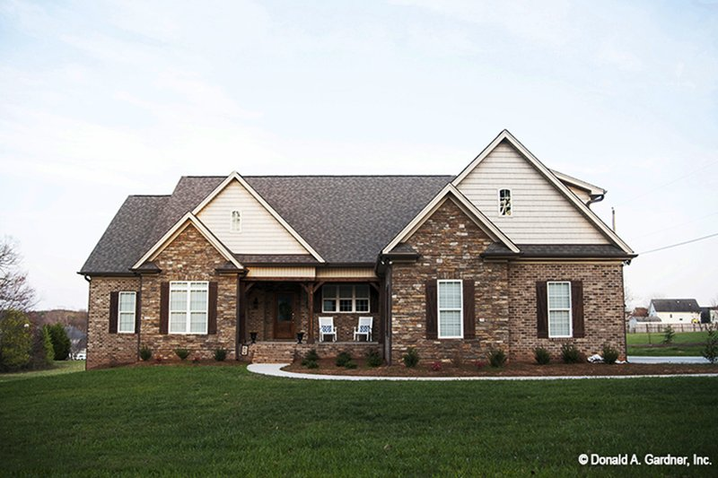 Architectural House Design - Country Exterior - Front Elevation Plan #929-46