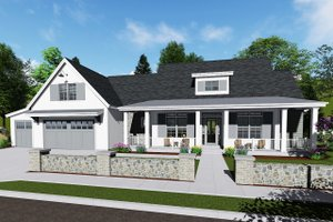 Country Exterior - Front Elevation Plan #1069-3