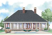 Colonial Exterior - Rear Elevation Plan #930-287