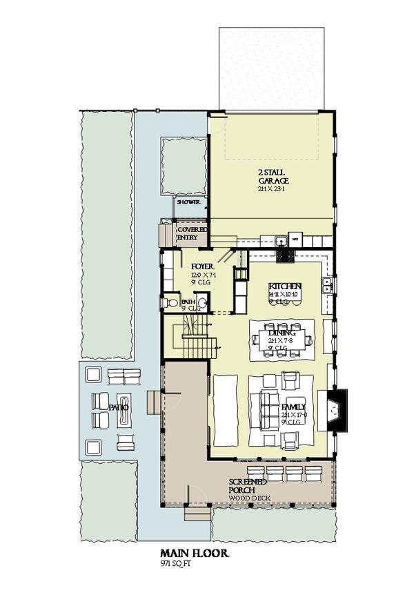 Beach Floor Plan - Main Floor Plan #901-120