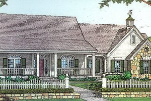 Country Exterior - Front Elevation Plan #310-604