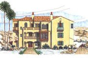 Mediterranean Style House Plan - 6 Beds 9 Baths 5458 Sq/Ft Plan #76-116 Exterior - Front Elevation