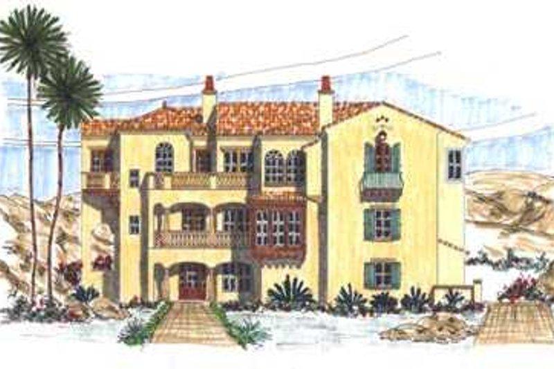 Mediterranean Style House Plan - 6 Beds 9 Baths 5458 Sq/Ft Plan #76-116