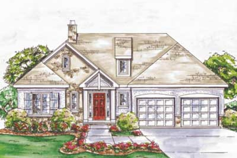 Traditional Exterior - Front Elevation Plan #20-1397