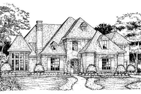 European Exterior - Front Elevation Plan #141-309