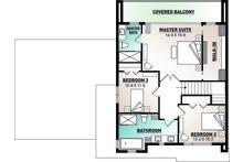 Contemporary Floor Plan - Upper Floor Plan Plan #23-2645