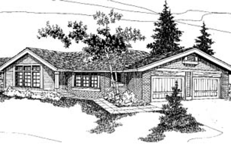 Ranch Exterior - Front Elevation Plan #60-135