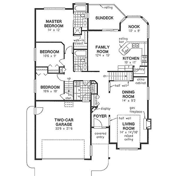 Traditional Floor Plan - Main Floor Plan Plan #18-1003