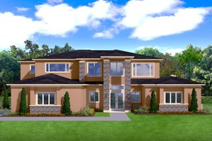 Dream House Plan - Contemporary Exterior - Front Elevation Plan #1058-181
