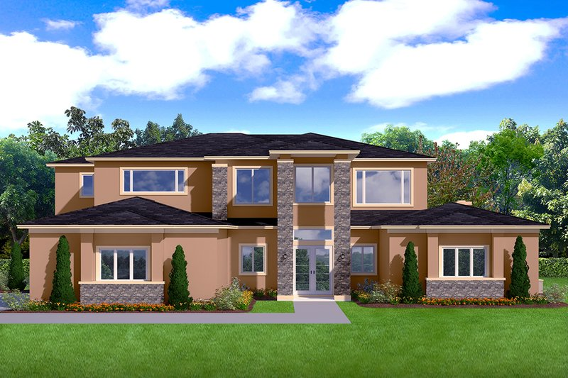 Home Plan - Contemporary Exterior - Front Elevation Plan #1058-181