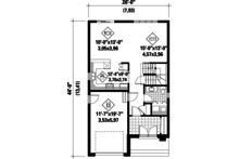 Contemporary Floor Plan - Main Floor Plan Plan #25-4288