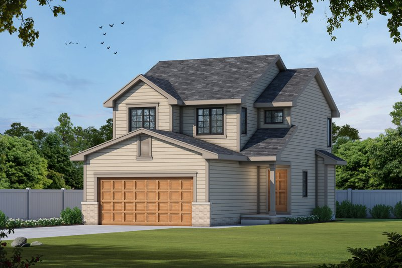 Traditional Style House Plan - 3 Beds 3 Baths 1440 Sq/Ft Plan #20-1664 Exterior - Front Elevation