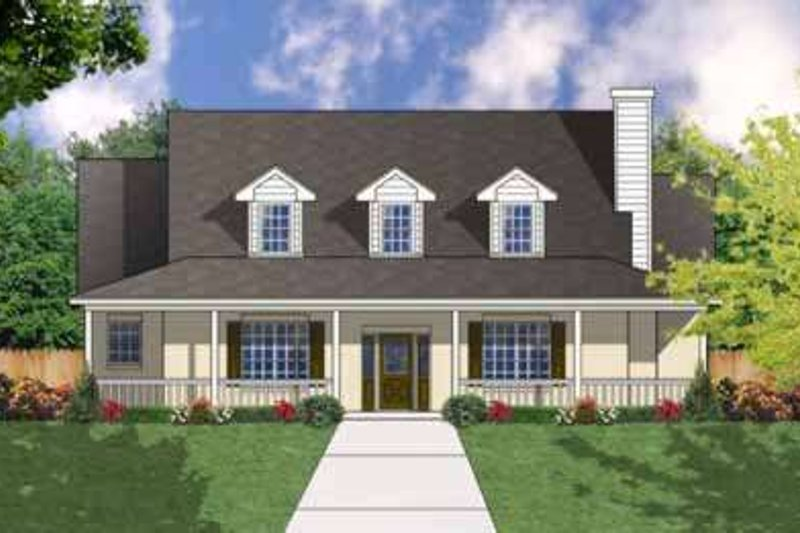 Country Exterior - Front Elevation Plan #40-363 - Houseplans.com