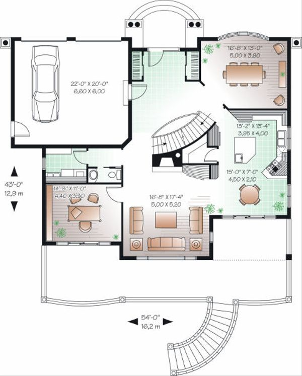 European Floor Plan - Main Floor Plan Plan #23-836