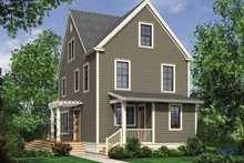Dream House Plan - Colonial Exterior - Rear Elevation Plan #48-1008