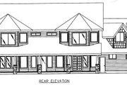 European Style House Plan - 4 Beds 3.5 Baths 3107 Sq/Ft Plan #117-439 Exterior - Rear Elevation