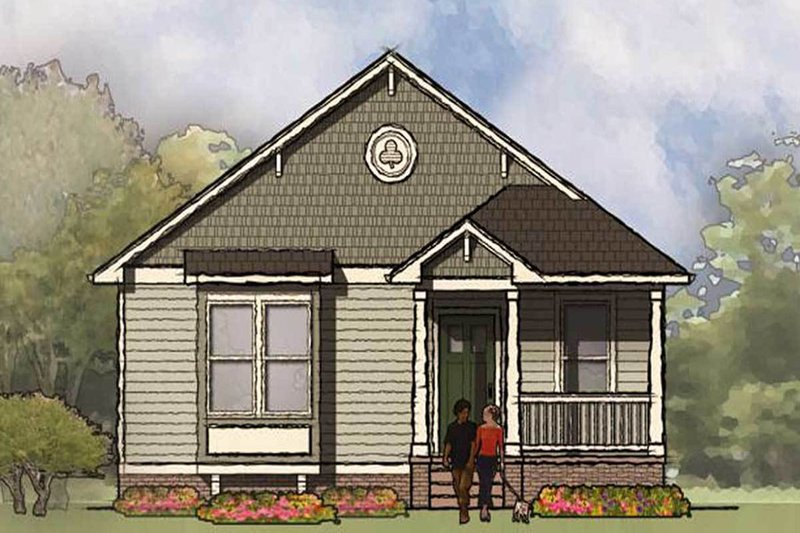 Bungalow Exterior - Front Elevation Plan #936-30