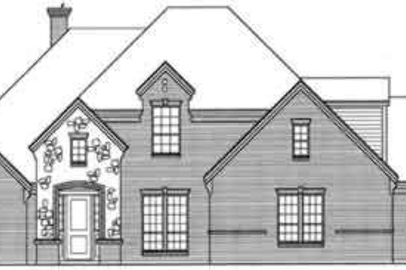 European Style House Plan - 5 Beds 4.5 Baths 3565 Sq/Ft Plan #141-118 Exterior - Front Elevation