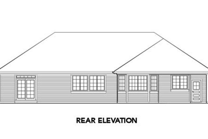 Traditional Exterior - Rear Elevation Plan #48-289 - Houseplans.com