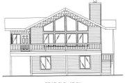 Modern Style House Plan - 3 Beds 2.5 Baths 1811 Sq/Ft Plan #117-422 Exterior - Rear Elevation