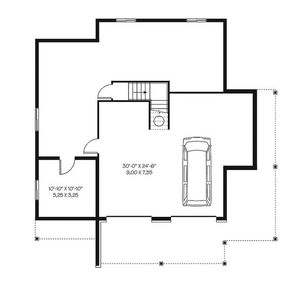 House Plan Design - European Floor Plan - Lower Floor Plan #23-2627