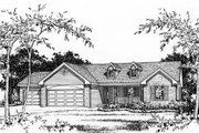 Ranch Style House Plan - 3 Beds 2.5 Baths 1635 Sq/Ft Plan #22-468 Photo