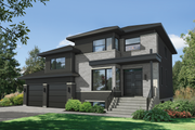 Contemporary Style House Plan - 4 Beds 3.5 Baths 2515 Sq/Ft Plan #25-4906