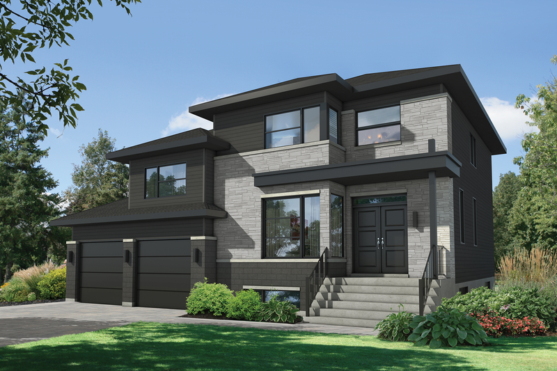 Dream House Plan - Contemporary Exterior - Front Elevation Plan #25-4906