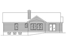 Dream House Plan - Ranch Exterior - Rear Elevation Plan #22-599