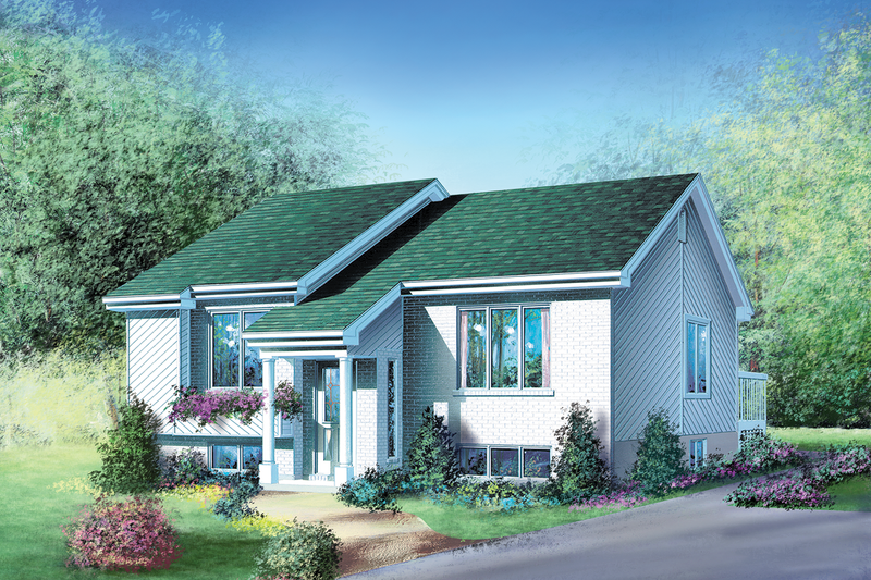 Traditional Style House Plan - 2 Beds 1 Baths 994 Sq/Ft Plan #25-1190 Exterior - Front Elevation