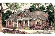 Dream House Plan - Southern Exterior - Front Elevation Plan #406-262